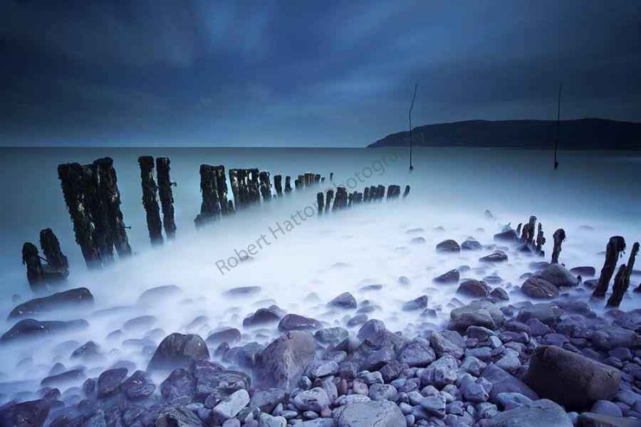 Moody Dawn at Porlock Weir