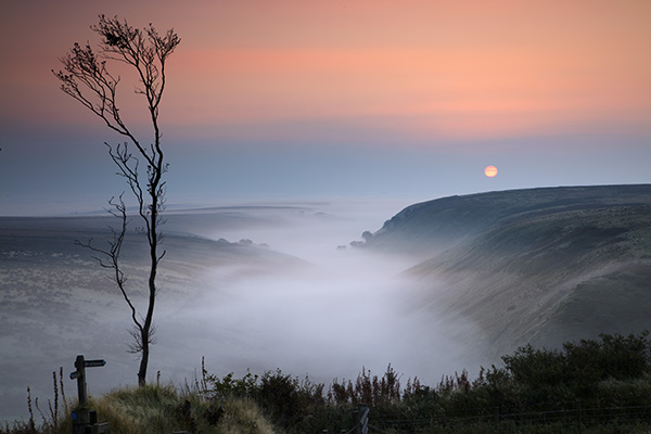 Dawn at Preyway Head on Exmoor, this is a very beautiful location with the valley looking toward the rising sun