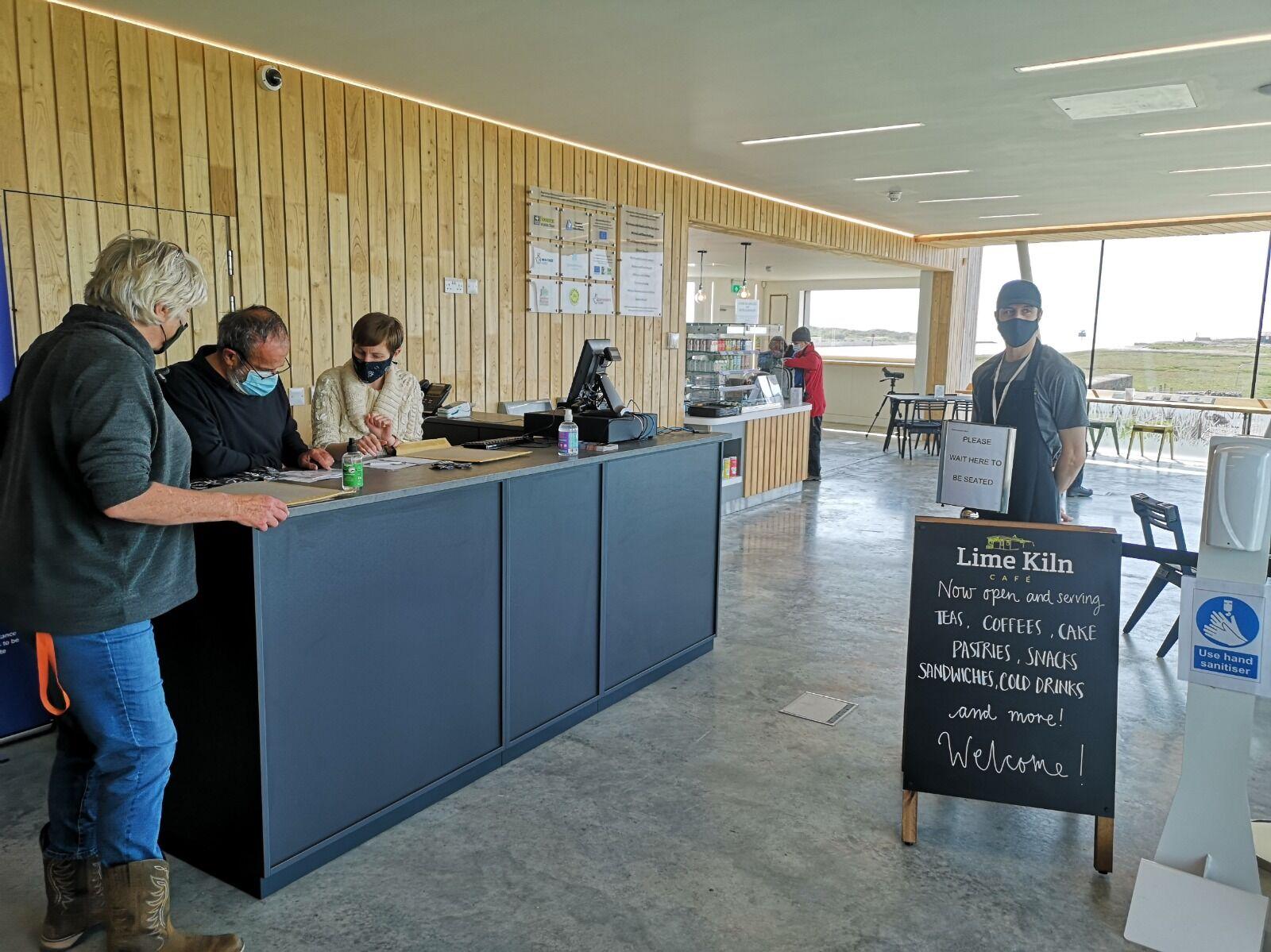 Information desk and Lime Kiln Cafe