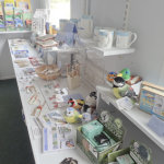 The shop offers a wide range of books, cards and gifts