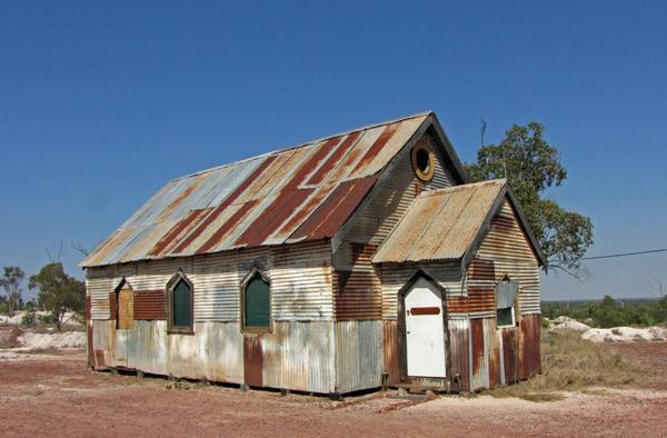 Disused Church, Lightning Ridge, New South Wales, Australia