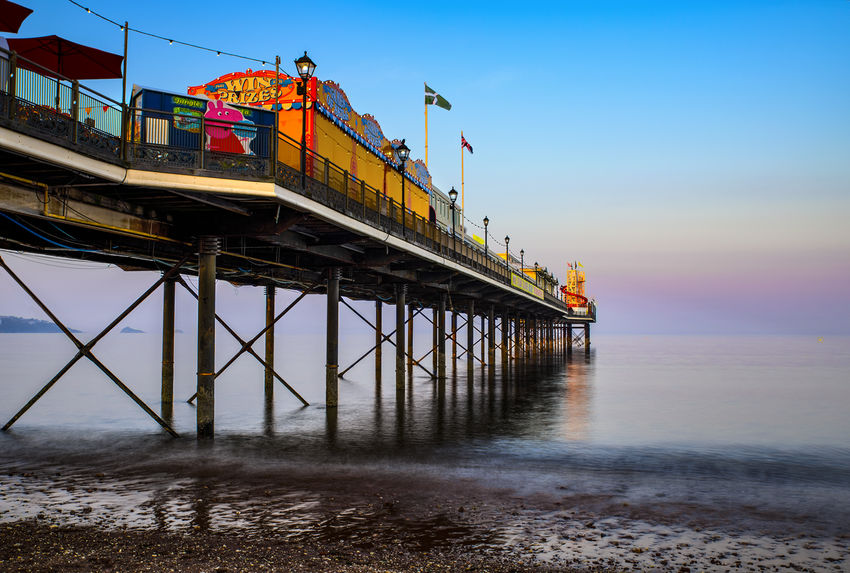 Paignton Pier, Evening Light---Geoff Mallin