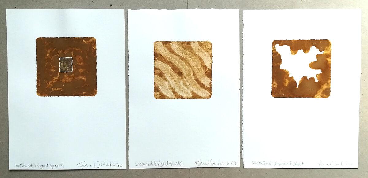 Ironstone Pigment #1/2/3 set of three, individual sizes 170x240mm