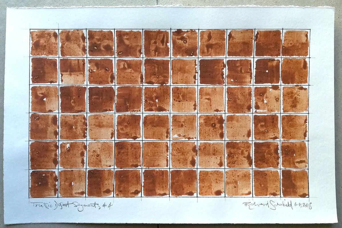 Triassic Desert Segments #4, sheet size 230x350mm