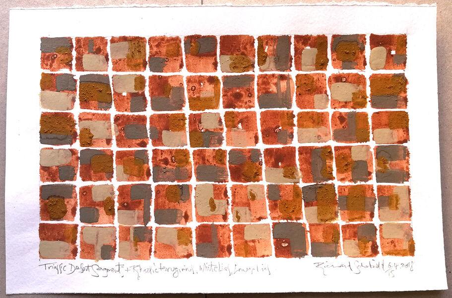 Triassic desert/Rhaetic/White Lias/Blue Lias. Sheet size 230x350mm