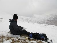 Just below Pen y Fan summit