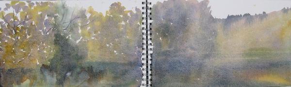 loose watercolour sketch lake