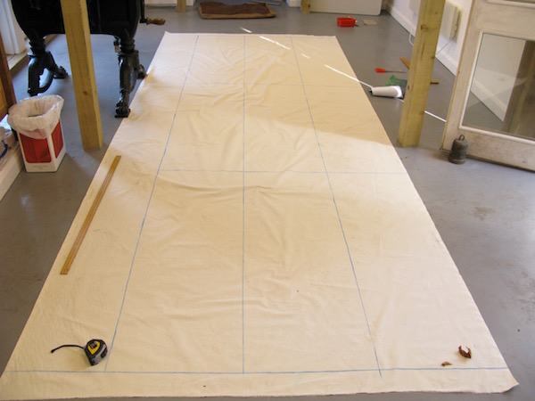 Day 1: Dividing the canvas into thirds each way to draw