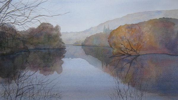 studio watercolour lake