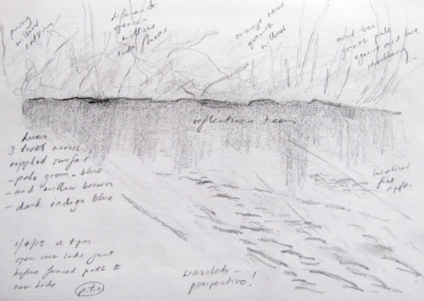 outdoor sketch reflections