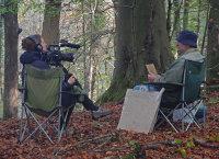 Kashfi Halford filming Robert Brooks (Arborealist)