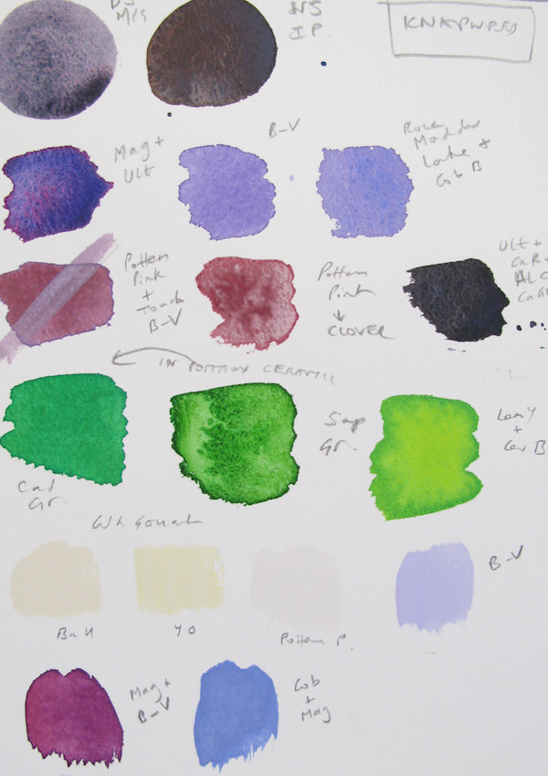 Studio colour chart