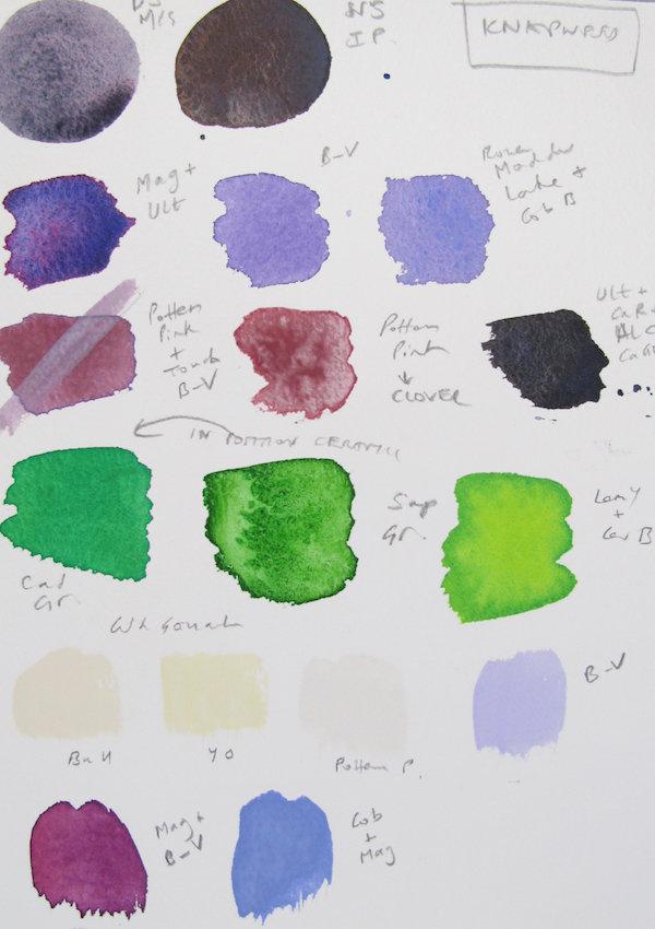Studio colour chart