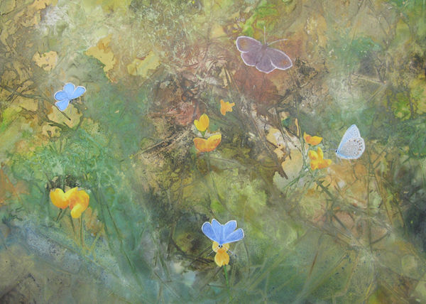 wildflower meadow painting