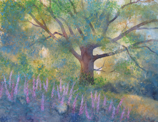 Oak with Rosebay Willowherb
