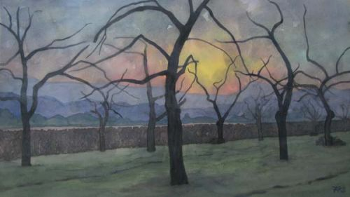 Orchard - Winter Sun Down
