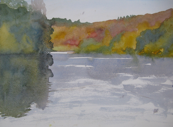 Outdoor watercolour sketch