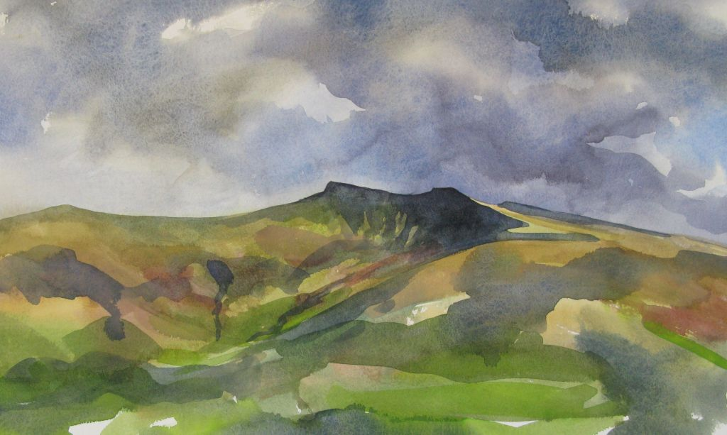 Plein air sketch - Pen y Fan