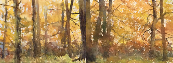 watercolour autumn sweet chestnut