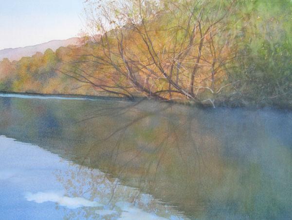 watercolour willow lake