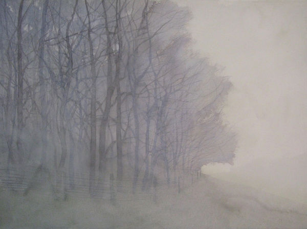 fog wood watercolour