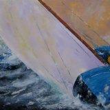 Hard Pressed under sail