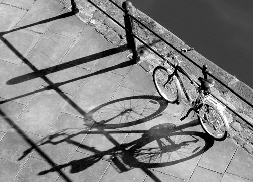 Evening bicycle
