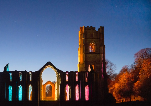 Fountains Abbey Floodlit