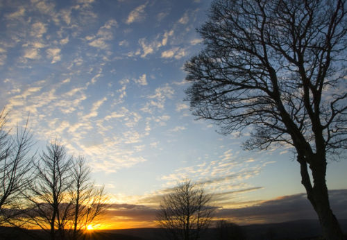 Leathley sunset