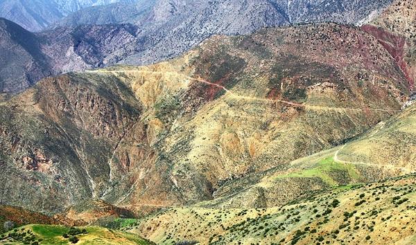 Road through the Atlas Mountains