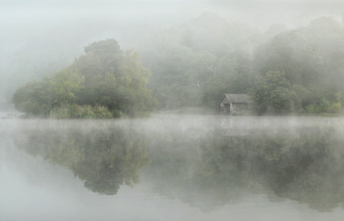 Mist over Rydal water