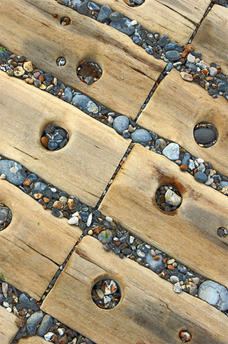 Path across the pebbles