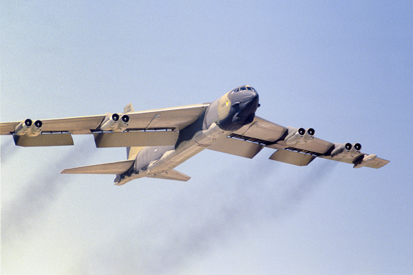 B-52 climbs out of Fairford