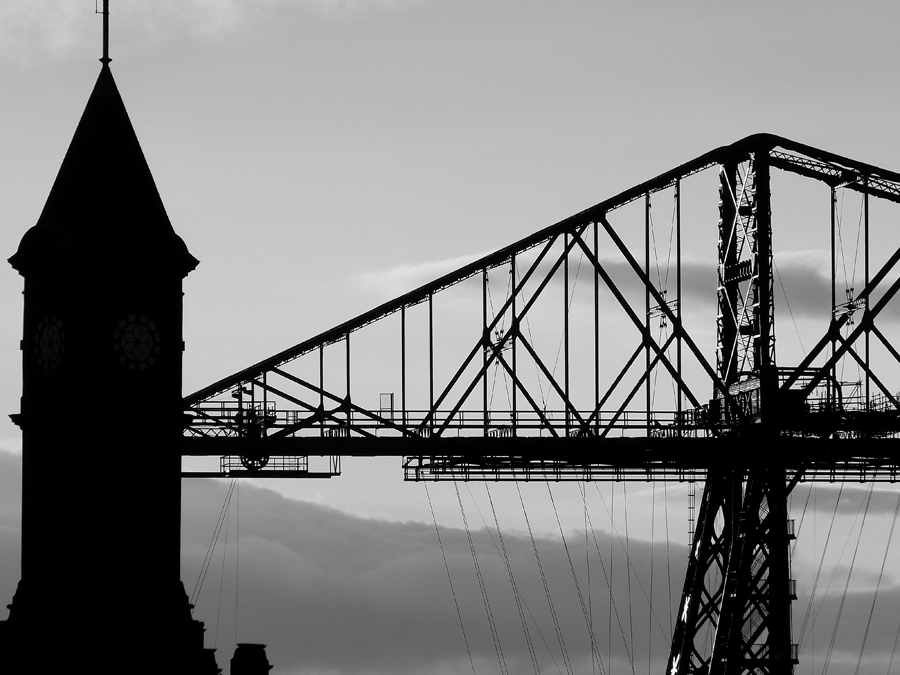 Transporter Bridge Dock Clock Tower