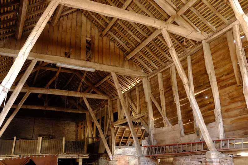 timber-framed barn