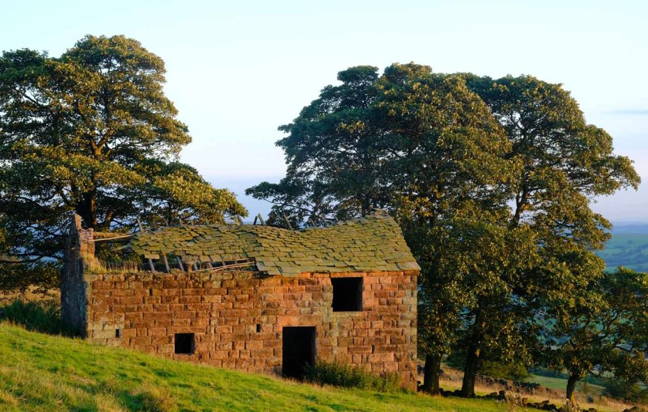 Peak District field barn