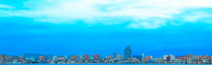 Benidorm Skyline from the sea