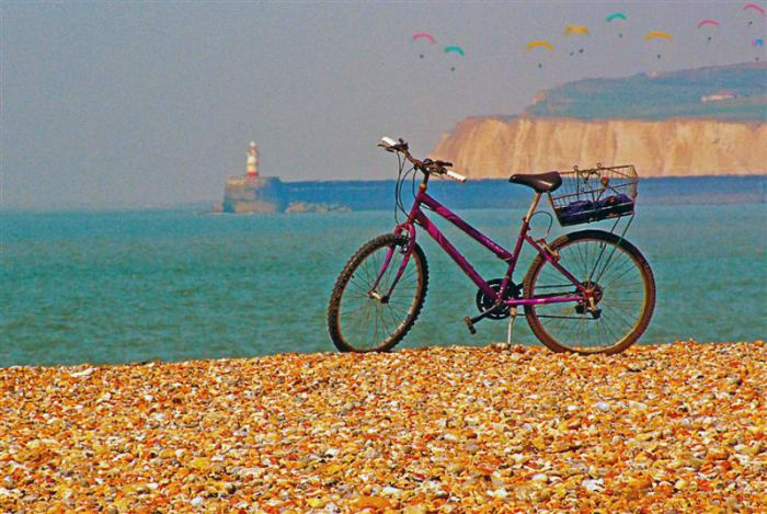 Bike on Seaford Beach