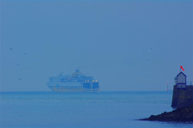 Newhaven Ferry on its way to Dieppe