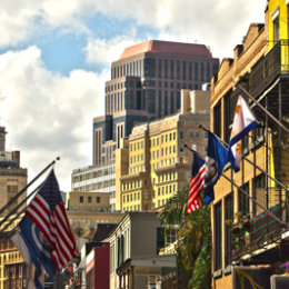 New Orleans backdrop