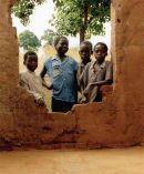 Malawi kids waiting for school