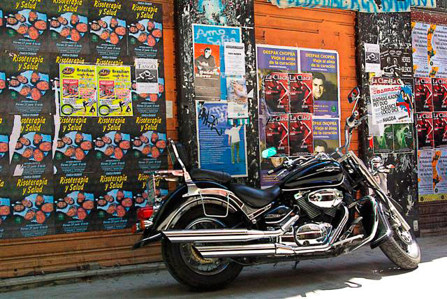 Motorcycle and Posters