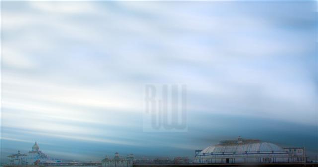 Eastbourne Pier in a lightstorm