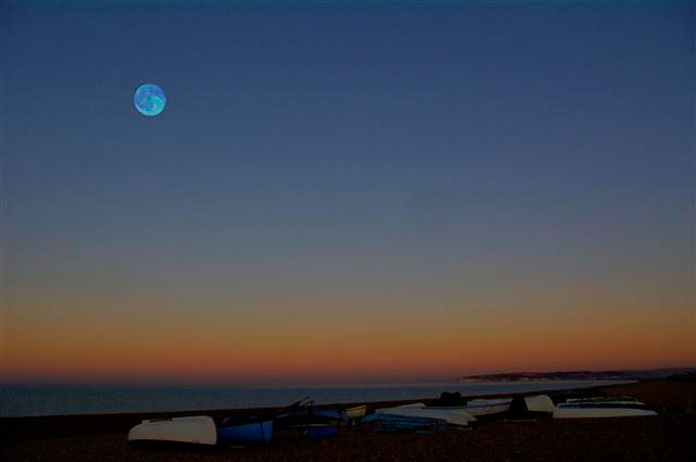 Rising Moon over Seaford Bay