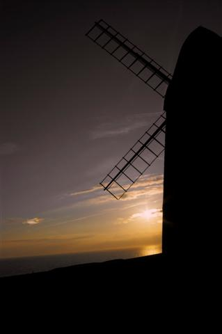 Rottingdean Mill at sunset