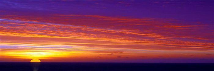 Sunset over Eastbourne
