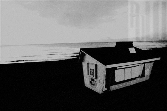 Hut on Eastbourne beach