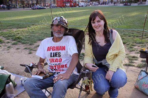 Brian Haw & Lesley Quinn