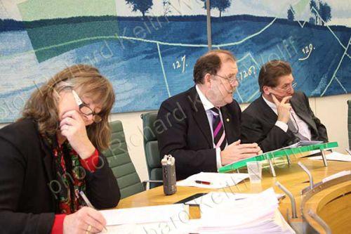 Belinda McKenzie, Elfyn Llwyd MP & Chris Coverdale