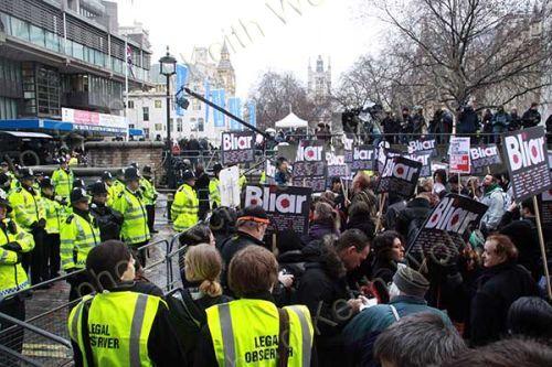 Police protecting Tony Blair from British